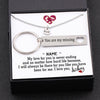 TINY NL3130 - TO MY FUTURE HUSBAND - My love for you is never ending... - Heart Necklace & Keychain Gift Set