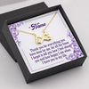 TINY NL3090 - TO MY WIFE - Thank you for everything you have done for me - INFINITY HEART NECKLACE