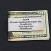 TINY MC7022 - To My Husband - I Promise to always be by your side - Money Clip