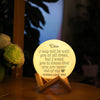 TINY ML19003 - To My Girlfriend - I may not be with you at all times - Moon Lamp