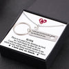 TINY NL3115 - TO MY FUTURE WIFE - I wish you know what really matters to me - Heart Necklace & Keychain Gift Set