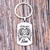 TINY KC1099 - A big piece of my Heart lives in Heaven and he is my Son - keychain