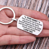 TINY KC1133 - TO MY DADDY - Your love for me is forever - KEYCHAIN