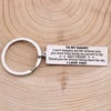 TINY KC1134 - TO MY DADDY - I can't imagine my life without you - KEYCHAIN