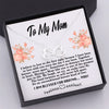 TINY NL3021 - TO MY MOM - Together forever, never apart... - NECKLACE