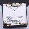 TINY NL3171 - To My Boyfriend - You are, not only just the wings of my life - Cross Necklace