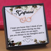 TINY NL3161 - To My Girlfriend - I hope you know that I think of you - HEART NECKLACE