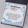 TINY NL3253 - To My Girlfriend - You are my hero and I love you eternally - Heart Necklace