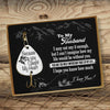 TINY FH17013 - To My Husband - I may not say it enough - Engraved Fishing Hook