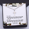 TINY NL3172 - To My Man - You are, not only just the wings of my life - Cross Necklace