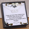 TINY NL3164 - To My Wife - I hope you know that I think of you - HEART NECKLACE
