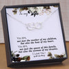 TINY NL3175 - To My Wife - You are, not just the mother of my children - HEART NECKLACE