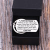 TINY KC1137 - TO MY BOYFRIEND - Sometimes in distance but never in heart - DOG TAG KEYCHAIN