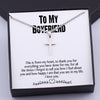 TINY NL3012 - TO MY BOYFRIEND - This is From My Heart - CROSS NECKLACE