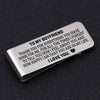 TINY MC7002 - To My Boyfriend - To thank you for everything you have done for me - Money Clip