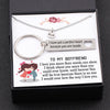 TINY NL3073 - TO MY BOYFRIEND - I love you more than words can show - Heart Necklace & Keychain Gift Set