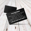 TINY CA5027 - TO MY BOYFRIEND - Together forever, never apart... - ENGRAVED WALLET CARD