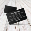 TINY CA5029 - TO MY BOYFRIEND - Sometimes in distance but never in heart - ENGRAVED WALLET CARD