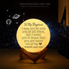 TINY ML19001 - To My Boyfriend - I may not be with you at all times - Moon Lamp
