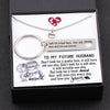 TINY NL3136 - TO MY FUTURE HUSBAND - Don't look for a pretty face, it will turn old one day - Heart Necklace & Keychain Gift Set