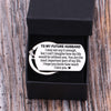 TINY KC1124 - To My Future Husband - I may not say it enough - DOG TAG KEYCHAIN
