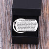 TINY KC1254 - To My Future Husband - Love can be tough at times,... - DOG TAG KEYCHAIN