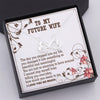 TINY NL3053 - TO MY FUTURE WIFE - The day you stepped into my life - INFINITY HEART NECKLACE