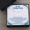 TINY NL3057 - TO MY FUTURE WIFE - When I said I love you - INFINITY HEART NECKLACE