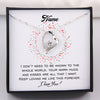 TINY NL3153 - TO MY Wife -  Keep loving me like this forever - Heart Necklace