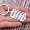 TINY KC1145 - TO MY GIRLFRIEND - Sometimes in distance but never in heart - DOG TAG KEYCHAIN