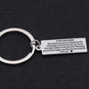 TINY KC1009 - To My Girlfriend you are in my life I Love You keychain