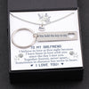 TINY NL3143 - TO MY GIRLFRIEND -  Together forever, never apart... - Heart Necklace & Keychain Gift Set