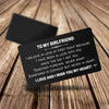 TINY CA5028 - TO MY GIRLFRIEND - Together forever, never apart... - ENGRAVED WALLET CARD