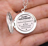 TINY ELN13003 - To My Girlfriend - Thank you for bringing joy to my heart - Engraved Locket Necklace