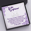 TINY NL3083 - TO MY GIRLFRIEND - I feel about you and how happy I am that you are in my life - INFINITY HEART NECKLACE