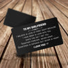TINY CA5030 - TO MY GIRLFRIEND - Sometimes in distance but never in heart - ENGRAVED WALLET CARD