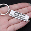 TINY KC1161 - To My Girlfriend - Together or apart i love you with all my heart - Keychain