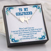 TINY NL3059 - TO MY GIRLFRIEND - I truly mean it because everything about you is very important to me - INFINITY HEART NECKLACE