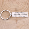 TINY KC1263 - To My Girlfriend - My heart made it's choice - Keychain