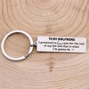TINY KC1213 - To My Girlfriend - I promised to love you for the rest of my life - Keychain