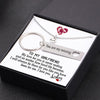 TINY NL3127 - TO MY GIRLFRIEND - My love for you is never ending... - Heart Necklace & Keychain Gift Set