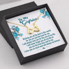 TINY NL3104 - TO MY GIRLFRIEND - I miss you so much and will always do forever - INFINITY HEART NECKLACE