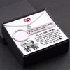 TINY NL3147 - TO MY GIRLFRIEND -  Don't look for a pretty face, it will turn old one day - Heart Necklace & Keychain Gift Set