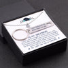 TINY NL3066 - TO MY GIRLFRIEND - My love for you is forever - Heart Necklace & Keychain Gift Set