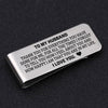 TINY MC7001 - To My Husband - To thank you for everything you have done for me - Money Clip