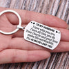 TINY KC1146 - To My Husband - I love who you are, I love all that you do - DOG TAG KEYCHAIN