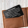 TINY CA5008 - ENGRAVED WALLET CARD - TO MY HUSBAND - LOVE FOREVER