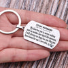 TINY KC1246 - To My Husband - My love for you is never ending... - DOG TAG KEYCHAIN