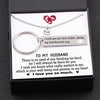 TINY NL3110 - TO MY HUSBAND - I wish you know what really matters to me - Heart Necklace & Keychain Gift Set