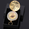 TINY CP11015 - To My Husband - Together or apart I love you with all my heart - Compass
